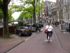 My sister Anne riding in Amsterdam.