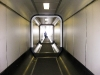 The crazy tunnels that brought us to the plane at the Amsterdam airport.