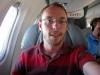 Self portrait on the plane.