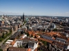 A wide view of Hamburg, Germany from the St. Michaels Steeple.