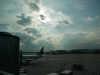 A nice sun view from the waiting area at the Chicago Midway airport.