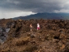 Hiking in the lava field.