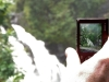 A photo of a photo of the waterfall.