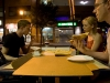 Matt, Katy and I eating pizza out on the sidewalk in Philly.
