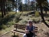 My mom hanging out on a trail in Denver.
