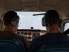 Preston and Nolan going through the pre-flight checklist.