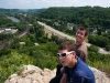 Preston , Nolan and I enjoying the view from the top of the hill in Red Wing.