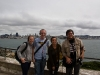 Pilippa, me, Anna, and Nate at Alcatraz with a view of San Fran.