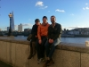 Nate, Kate and I by the river Thames.