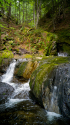Sterling Gorge Falls, Stowe, Vermont.